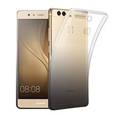 Silikon Hülle Handyhülle Ultra Dünn Schutzhülle Durchsichtig Farbverlauf für Huawei P9 Plus Grau