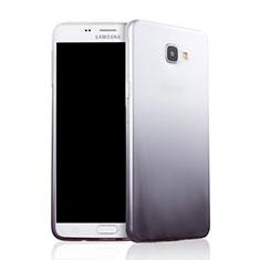Silikon Hülle Handyhülle Ultra Dünn Schutzhülle Durchsichtig Farbverlauf für Samsung Galaxy A9 Pro (2016) SM-A9100 Grau