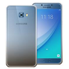 Silikon Hülle Handyhülle Ultra Dünn Schutzhülle Durchsichtig Farbverlauf für Samsung Galaxy C7 Pro C7010 Grau