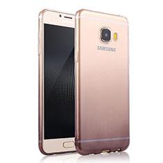 Silikon Hülle Handyhülle Ultra Dünn Schutzhülle Durchsichtig Farbverlauf für Samsung Galaxy C7 SM-C7000 Grau