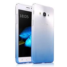Silikon Hülle Handyhülle Ultra Dünn Schutzhülle Durchsichtig Farbverlauf für Samsung Galaxy J3 Pro (2016) J3110 Blau