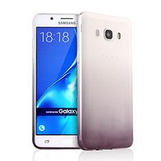Silikon Hülle Handyhülle Ultra Dünn Schutzhülle Durchsichtig Farbverlauf für Samsung Galaxy J5 Duos (2016) Grau