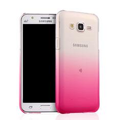 Silikon Hülle Handyhülle Ultra Dünn Schutzhülle Durchsichtig Farbverlauf für Samsung Galaxy J5 SM-J500F Rosa