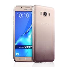 Silikon Hülle Handyhülle Ultra Dünn Schutzhülle Durchsichtig Farbverlauf für Samsung Galaxy J7 (2016) J710F J710FN Grau