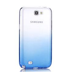 Silikon Hülle Handyhülle Ultra Dünn Schutzhülle Durchsichtig Farbverlauf für Samsung Galaxy Note 2 N7100 N7105 Blau