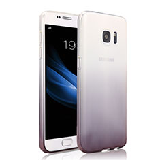 Silikon Hülle Handyhülle Ultra Dünn Schutzhülle Durchsichtig Farbverlauf für Samsung Galaxy S7 G930F G930FD Grau