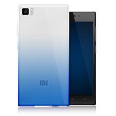 Silikon Hülle Handyhülle Ultra Dünn Schutzhülle Durchsichtig Farbverlauf für Xiaomi Mi 3 Blau