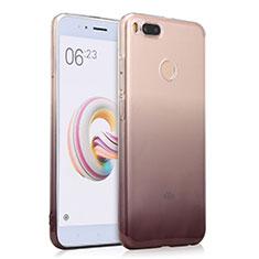 Silikon Hülle Handyhülle Ultra Dünn Schutzhülle Durchsichtig Farbverlauf für Xiaomi Mi A1 Grau