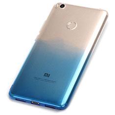Silikon Hülle Handyhülle Ultra Dünn Schutzhülle Durchsichtig Farbverlauf für Xiaomi Mi Max 2 Blau