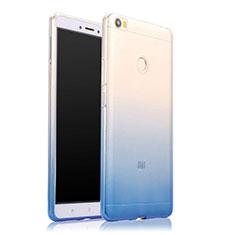 Silikon Hülle Handyhülle Ultra Dünn Schutzhülle Durchsichtig Farbverlauf für Xiaomi Mi Max Blau