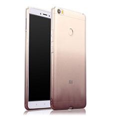 Silikon Hülle Handyhülle Ultra Dünn Schutzhülle Durchsichtig Farbverlauf für Xiaomi Mi Max Grau