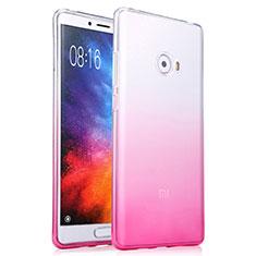 Silikon Hülle Handyhülle Ultra Dünn Schutzhülle Durchsichtig Farbverlauf für Xiaomi Mi Note 2 Special Edition Rosa