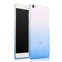 Silikon Hülle Handyhülle Ultra Dünn Schutzhülle Durchsichtig Farbverlauf für Xiaomi Mi Note Blau