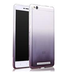 Silikon Hülle Handyhülle Ultra Dünn Schutzhülle Durchsichtig Farbverlauf für Xiaomi Redmi 3 Grau