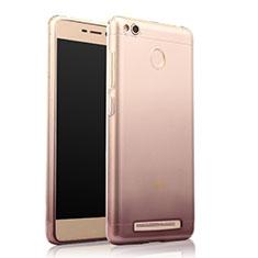 Silikon Hülle Handyhülle Ultra Dünn Schutzhülle Durchsichtig Farbverlauf für Xiaomi Redmi 3S Grau