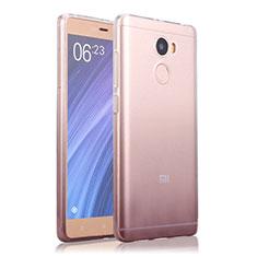 Silikon Hülle Handyhülle Ultra Dünn Schutzhülle Durchsichtig Farbverlauf für Xiaomi Redmi 4 Standard Edition Grau