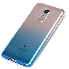 Silikon Hülle Handyhülle Ultra Dünn Schutzhülle Durchsichtig Farbverlauf für Xiaomi Redmi 5 Blau
