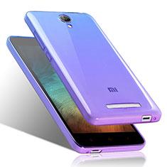 Silikon Hülle Handyhülle Ultra Dünn Schutzhülle Durchsichtig Farbverlauf für Xiaomi Redmi Note 2 Blau