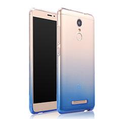 Silikon Hülle Handyhülle Ultra Dünn Schutzhülle Durchsichtig Farbverlauf für Xiaomi Redmi Note 3 Pro Blau