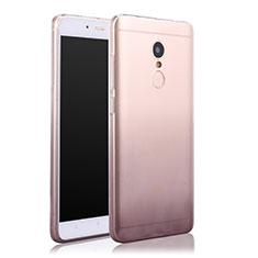 Silikon Hülle Handyhülle Ultra Dünn Schutzhülle Durchsichtig Farbverlauf für Xiaomi Redmi Note 4 Grau