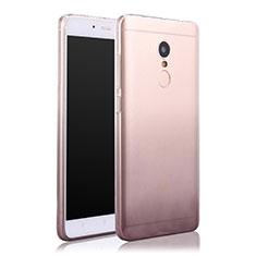 Silikon Hülle Handyhülle Ultra Dünn Schutzhülle Durchsichtig Farbverlauf für Xiaomi Redmi Note 4 Standard Edition Grau