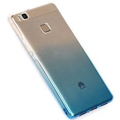 Silikon Hülle Handyhülle Ultra Dünn Schutzhülle Durchsichtig Farbverlauf G01 für Huawei G9 Lite Blau