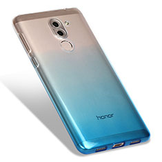 Silikon Hülle Handyhülle Ultra Dünn Schutzhülle Durchsichtig Farbverlauf G01 für Huawei Honor 6X Blau