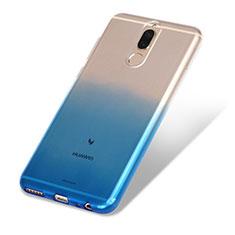 Silikon Hülle Handyhülle Ultra Dünn Schutzhülle Durchsichtig Farbverlauf G01 für Huawei Mate 10 Lite Blau