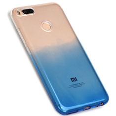 Silikon Hülle Handyhülle Ultra Dünn Schutzhülle Durchsichtig Farbverlauf G01 für Xiaomi Mi A1 Blau