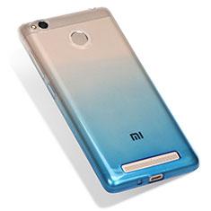 Silikon Hülle Handyhülle Ultra Dünn Schutzhülle Durchsichtig Farbverlauf G01 für Xiaomi Redmi 3X Blau