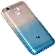 Silikon Hülle Handyhülle Ultra Dünn Schutzhülle Durchsichtig Farbverlauf G01 für Xiaomi Redmi 4X Blau