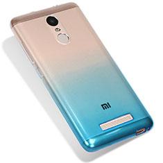 Silikon Hülle Handyhülle Ultra Dünn Schutzhülle Durchsichtig Farbverlauf G01 für Xiaomi Redmi Note 3 Blau