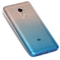 Silikon Hülle Handyhülle Ultra Dünn Schutzhülle Durchsichtig Farbverlauf G01 für Xiaomi Redmi Note 4X Blau