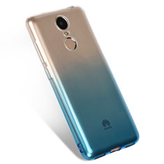 Silikon Hülle Handyhülle Ultra Dünn Schutzhülle Durchsichtig Farbverlauf Q01 für Huawei Enjoy 6 Blau