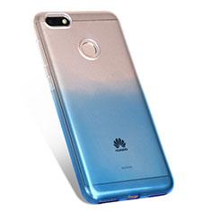 Silikon Hülle Handyhülle Ultra Dünn Schutzhülle Durchsichtig Farbverlauf Q01 für Huawei Enjoy 7 Blau