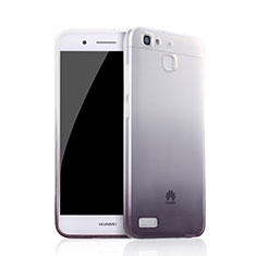 Silikon Hülle Handyhülle Ultra Dünn Schutzhülle Durchsichtig Farbverlauf Q01 für Huawei G8 Mini Schwarz