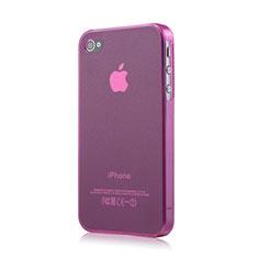 Silikon Hülle Handyhülle Ultra Dünn Schutzhülle Durchsichtig Matt für Apple iPhone 4 Rosa