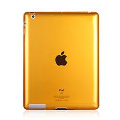 Silikon Hülle Handyhülle Ultra Dünn Schutzhülle Durchsichtig Transparent für Apple iPad 2 Gelb