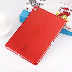 Silikon Hülle Handyhülle Ultra Dünn Schutzhülle Durchsichtig Transparent für Apple iPad Pro 9.7 Rot