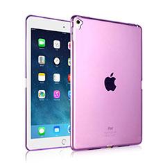 Silikon Hülle Handyhülle Ultra Dünn Schutzhülle Durchsichtig Transparent für Apple iPad Pro 9.7 Violett