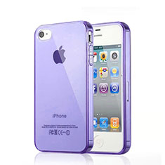 Silikon Hülle Handyhülle Ultra Dünn Schutzhülle Durchsichtig Transparent für Apple iPhone 4S Violett