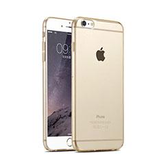 Silikon Hülle Handyhülle Ultra Dünn Schutzhülle Durchsichtig Transparent für Apple iPhone 6 Gold