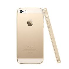 Silikon Hülle Handyhülle Ultra Dünn Schutzhülle Durchsichtig Transparent für Apple iPhone SE Gold