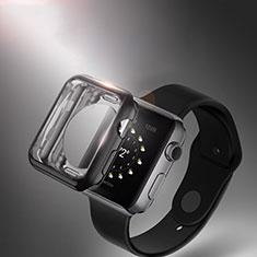 Silikon Hülle Handyhülle Ultra Dünn Schutzhülle Durchsichtig Transparent für Apple iWatch 3 42mm Schwarz