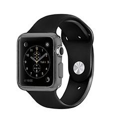 Silikon Hülle Handyhülle Ultra Dünn Schutzhülle Durchsichtig Transparent für Apple iWatch 42mm Grau