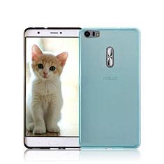 Silikon Hülle Handyhülle Ultra Dünn Schutzhülle Durchsichtig Transparent für Asus Zenfone 3 Ultra ZU680KL Blau