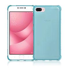 Silikon Hülle Handyhülle Ultra Dünn Schutzhülle Durchsichtig Transparent für Asus Zenfone 4 Max ZC554KL Blau