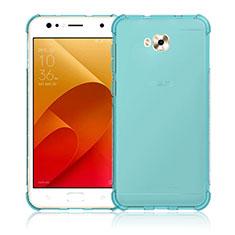 Silikon Hülle Handyhülle Ultra Dünn Schutzhülle Durchsichtig Transparent für Asus Zenfone 4 Selfie ZD553KL Blau