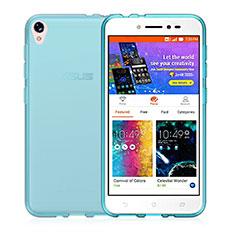 Silikon Hülle Handyhülle Ultra Dünn Schutzhülle Durchsichtig Transparent für Asus Zenfone Live ZB501KL Blau