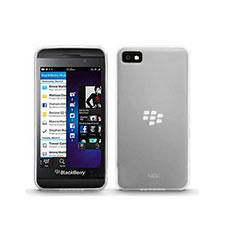 Silikon Hülle Handyhülle Ultra Dünn Schutzhülle Durchsichtig Transparent für Blackberry Z10 Weiß